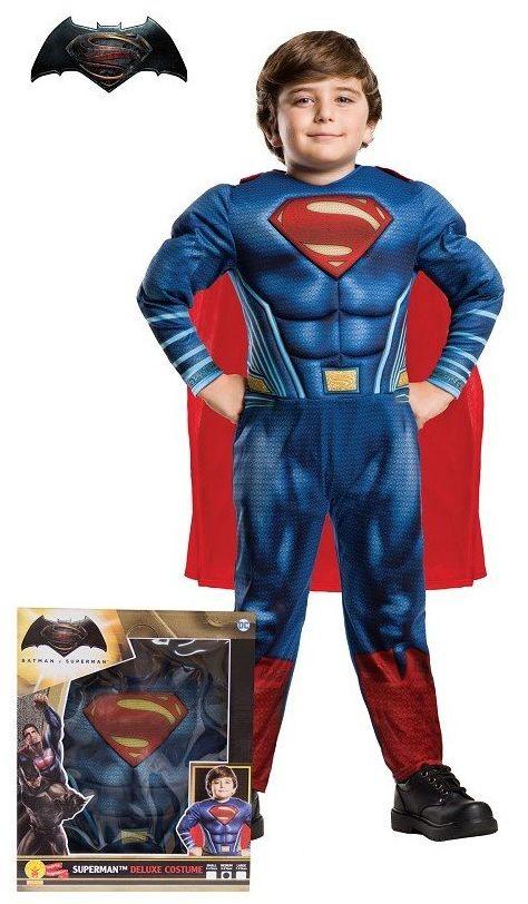 Batman i Superman Doj Premiere w kinach 23 marca 2016  kostium Supermana, Doj musculoso w pudełku Talla S czerwony