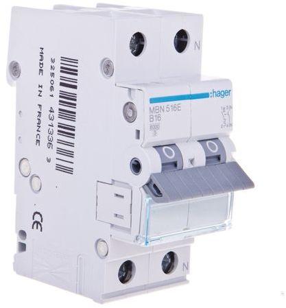Wyłącznik nadprądowy 1+N B 16A 6kA AC MBN516E