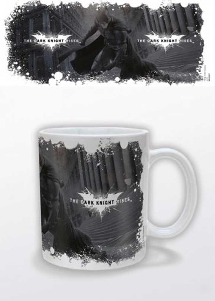 Empireposter Batman - The Dark Knight Rises - białe logo - rozmiar ok. Ø8,5 wys. 9,5 cm - licencjonowane kubki, NOWE - opis: - kubek ceramiczny -