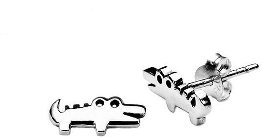Staviori Kolczyki srebrne dla dzieci pr.925 krokodyle