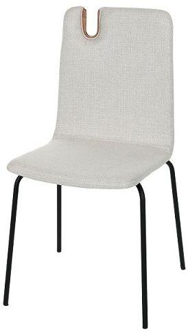 Krzesło Falun Steel, tapicerowane, na metalowych nóżkach, z wieszakiem na torebkę, do jadalni, do salonu