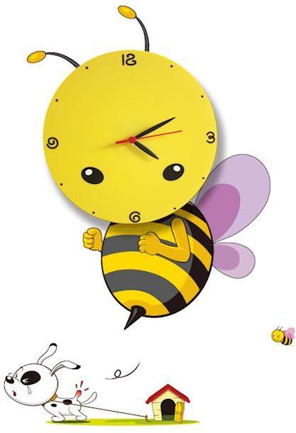 Milagro BEE LED CLOCK ML145 kinkiet lampa ścienna dziecięca pszczoła zegar 0,6W LED 26cm