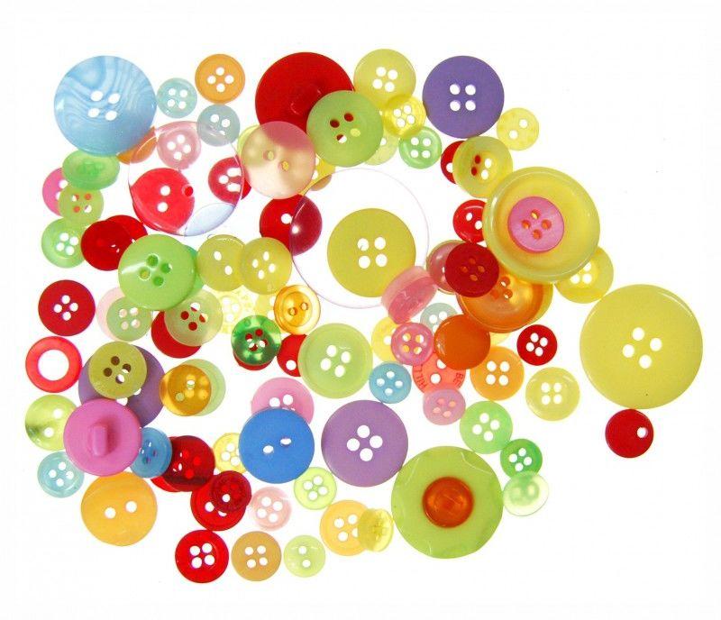 Guziki kreatywne dekoracyjne 40g 75 szt Shan 6029-SG01