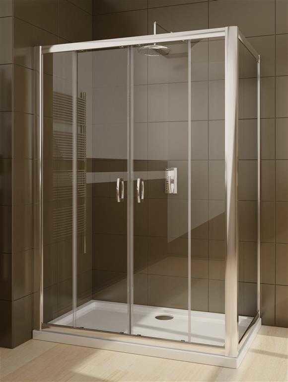 Kabina prysznicowa Radaway Premium Plus DWD+S 140 drzwi x 75 szkło przejrzyste wys. 190 cm. 33353-01-01N/33402-01-01N