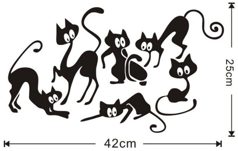 Naklejka na ścianę Koty DLA ZAMÓWIEŃ + 99zł GRATIS!