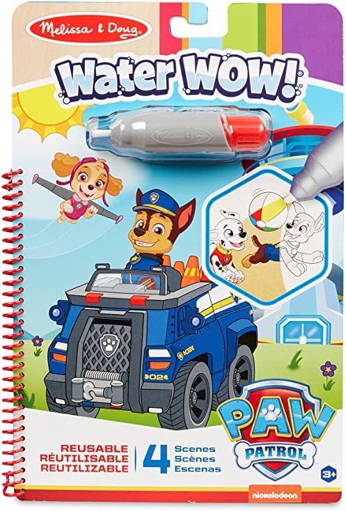 Melissa & Doug PAW Patrol Water WOW! Chase Water Reveal Travel Activity Pad
