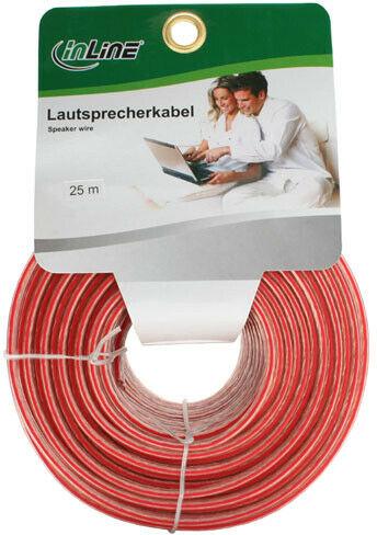 InLine kabel głośnikowy, 2x 0,75 qmm, CCA, przezroczysty - 25 m