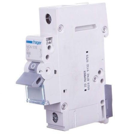Wyłącznik nadprądowy 1P C 1A 6kA AC MCN101E