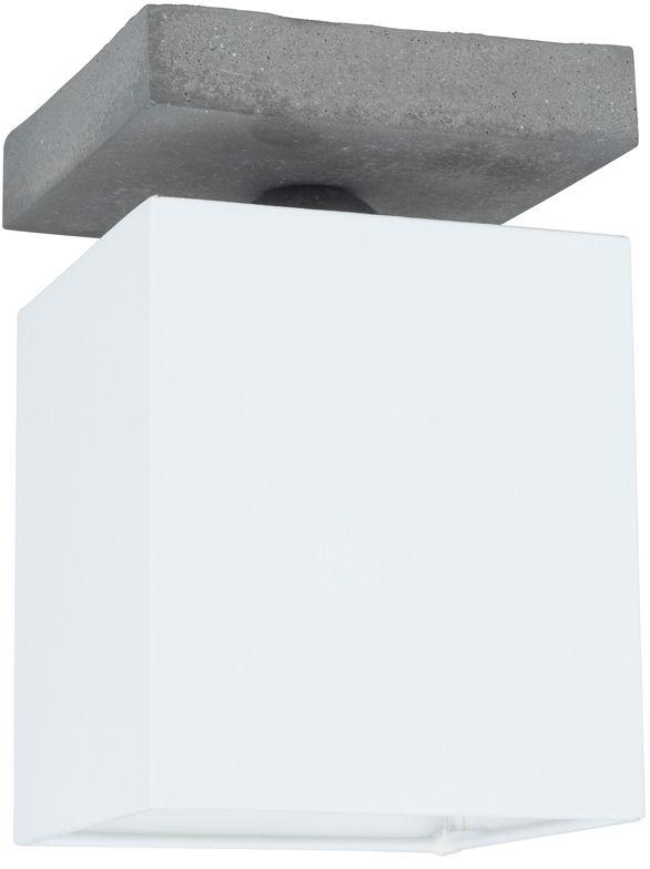 Spot Light 2241136 Great plafon lampa sufitowa beton szary abażur tkanina biały 1xE27 25W 13,5cm