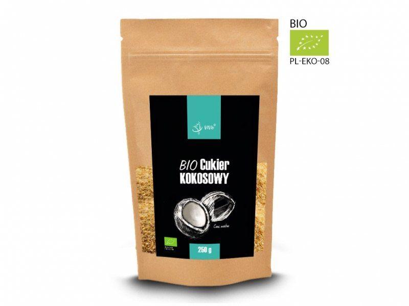 BIO Cukier kokosowy 250g 95% ekologicznych skład.
