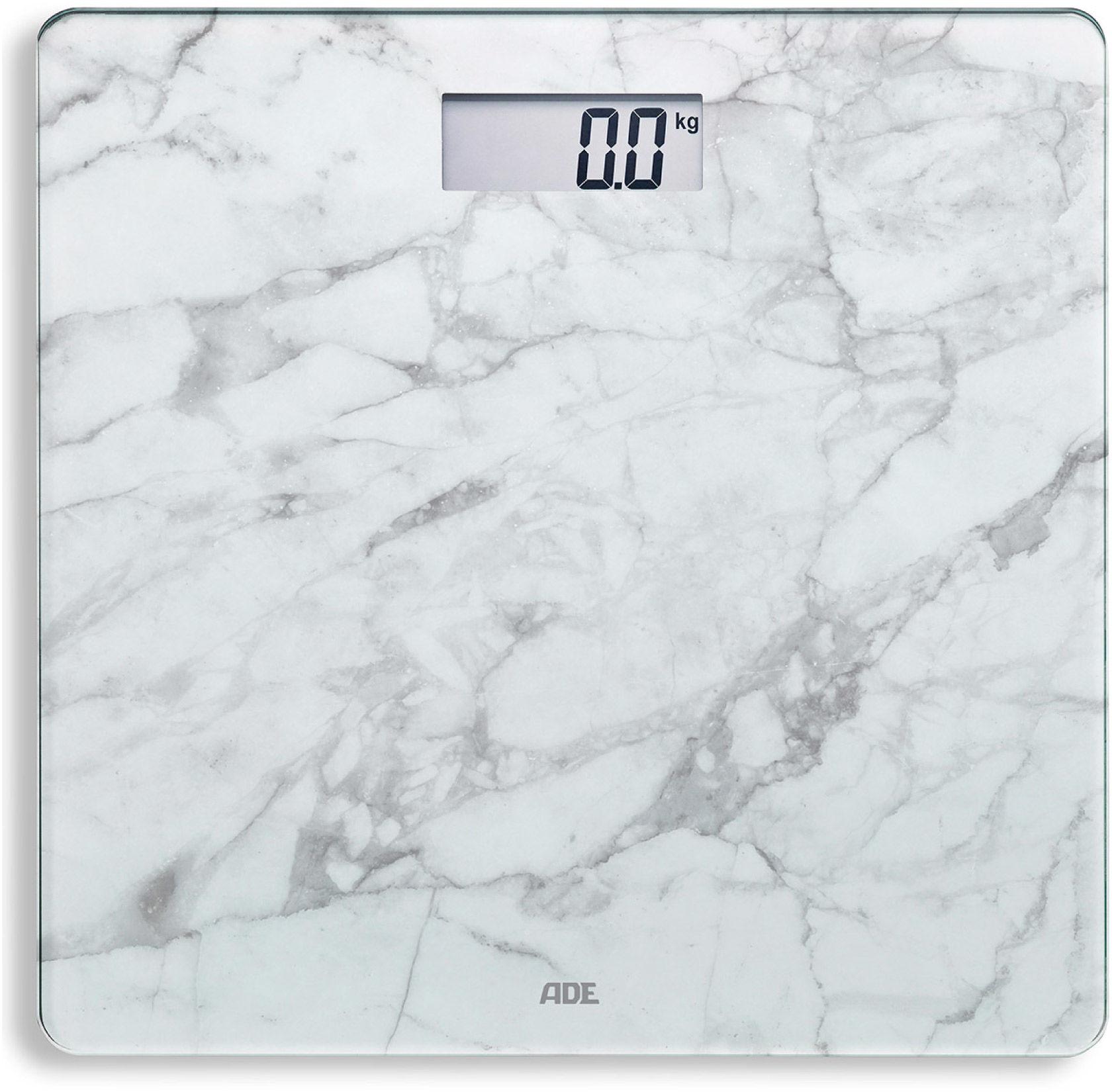 ADE BE1712 BE1711 Aurora-biały Biała, marmurowa, cyfrowa waga łazienkowa