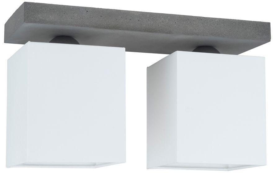 Spot Light 2241236 Great plafon lampa sufitowa beton szary abażur tkanina biały 2xE27 25W 35cm