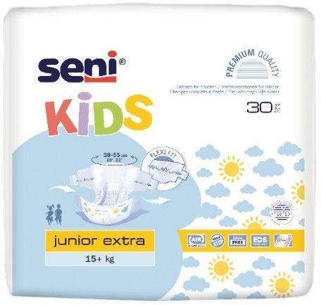 Seni Kids Junior Extra Pieluchomajtki dla dzieci 15+kg, 30 sztuk