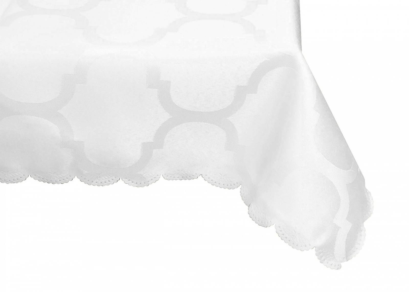 Obrus Koniczyna Marokańska Biały 150x260
