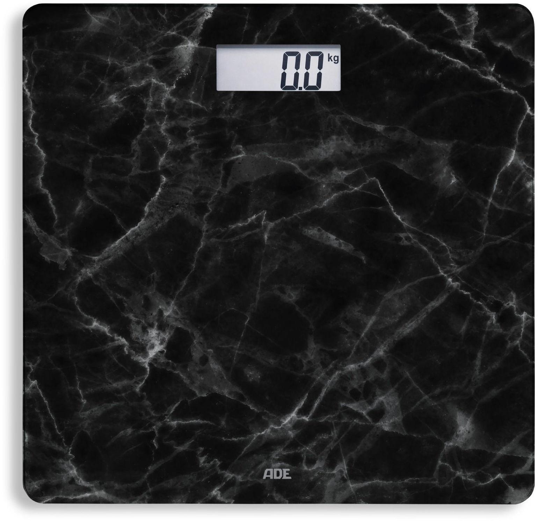 ADE BE1712 BE1711 Aurora-czarny Czarna, marmurowa, cyfrowa waga łazienkowa