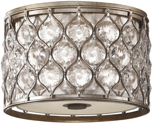 Plafon Lucia FE/LUCIA/F Feiss okrągła oprawa sufitowa w kolorze srebrnym