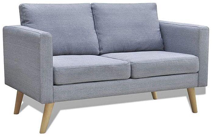 Sofa dwuosobowa Lavinia 2S - jasnoszara
