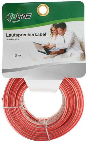 InLine kabel głośnikowy, 2x 1,5 qmm, CCA, przezroczysty - 10 m