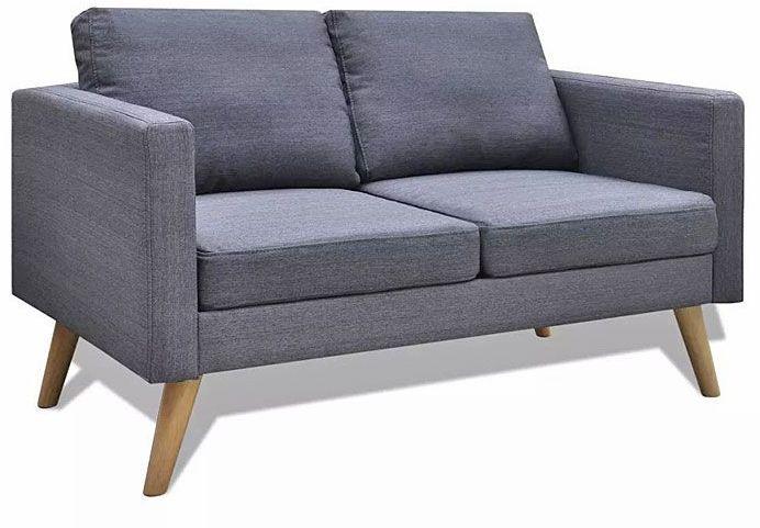 Sofa dwuosobowa Lavinia 3S - ciemny szary
