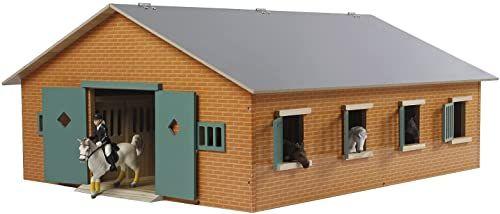Van Manen Kids Globe 610595 - gospodarstwo rolne stajnia dla koni z 7 pudełkami, skala 1:24