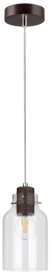Spot Light 1760176 Alessandro Wood lampa wisząca drewno orzech klosz szkło transparentny 1xE27 60W 10cm
