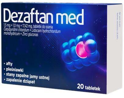Dezaftan med 1,5 mg + 1,0 mg + 17,42 mg 20 tabletek do ssania