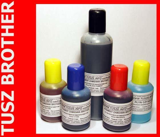 Zgodny atrament pigment do BROTHER czarny 150ml