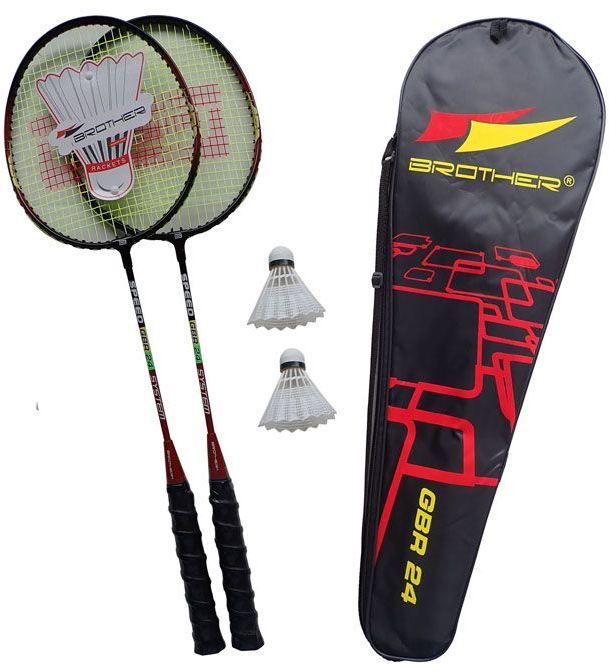 Zestaw do badmintona - 2 rakietki ALU + lotki