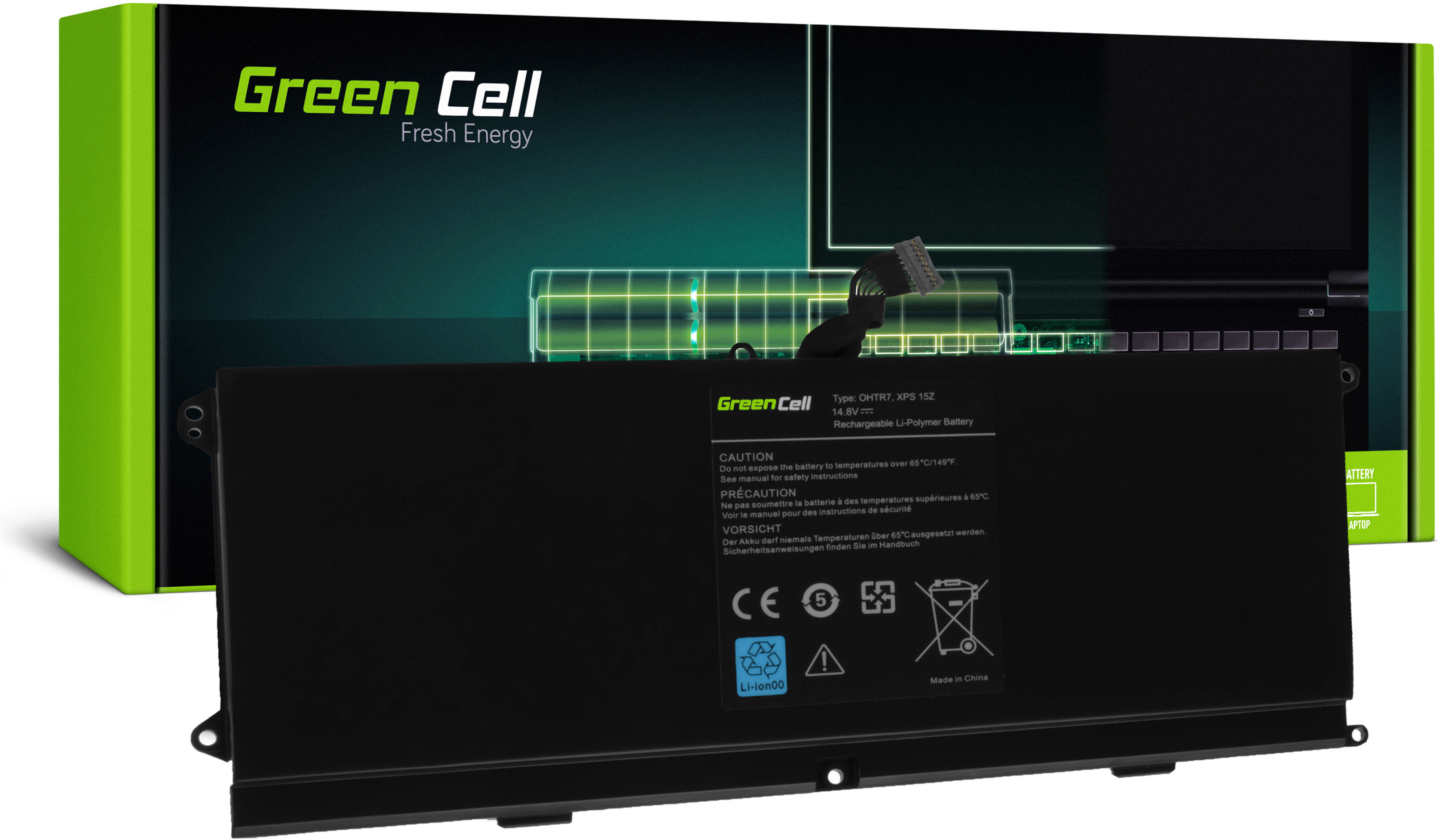 Bateria Green Cell 0HTR7 do Dell XPS 15z L511z