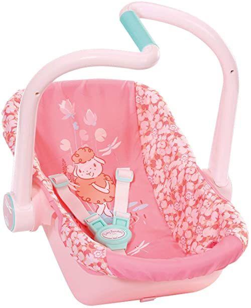 Baby Annabell Fotelik dla Lalki 43 cm - Dwa Sposoby Użycia - Wzór w Ważki i Owcę - Przyjazny dla Małych Rączek, Kreatywna Zabawka, która Promuje Empatię i Umiejętności Społeczne, dla Dzieci od 3 Lat