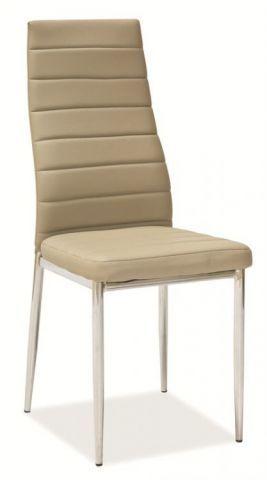 Krzesło H-261 ciemny beż/chrom  Kupuj w Sprawdzonych sklepach