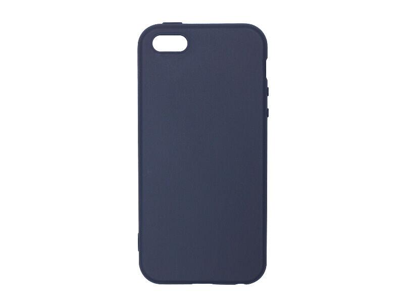 Apple iPhone 5S - etui na telefon Soft Flex - granatowy