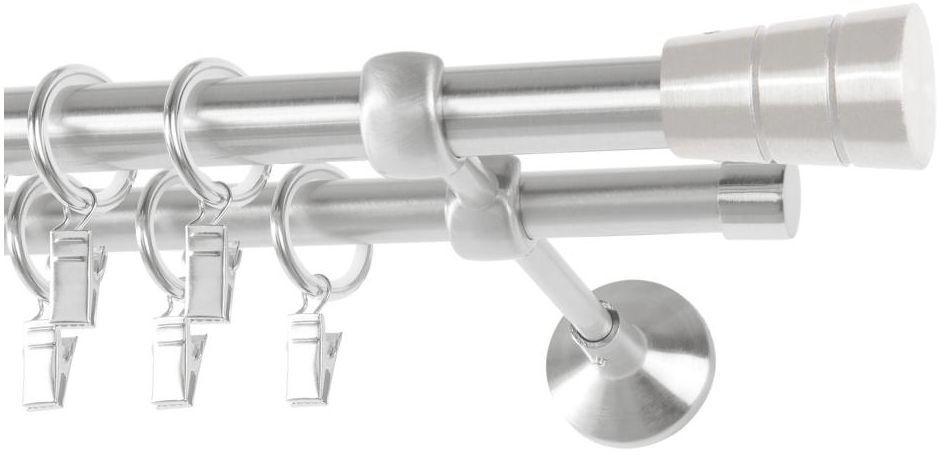 Karnisz SYCYLIA 160 cm podwójny satyna 19/16 mm metalowy
