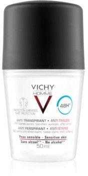 Vichy Homme Deodorant dezodorant roll-on przeciw białym i żółtym plamom 48 godz. 50 ml