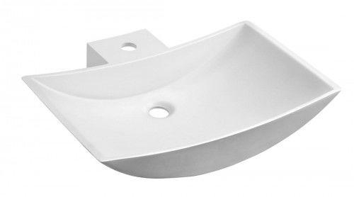 Umywalka nablatowa, 597x150x455 mm, biała matowa