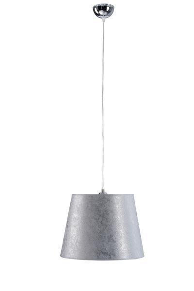 Lampa wisząca nowoczesna z abażurem LUCA 740 chrom/srebrny śr. 38cm