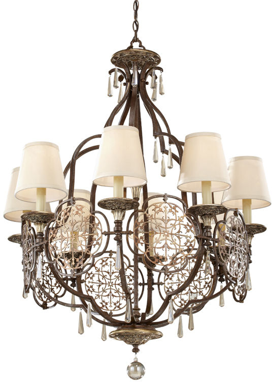 Lampa wisząca Marcella FE/MARCELLA8 Feiss klasyczna oprawa w dekoracyjnym stylu