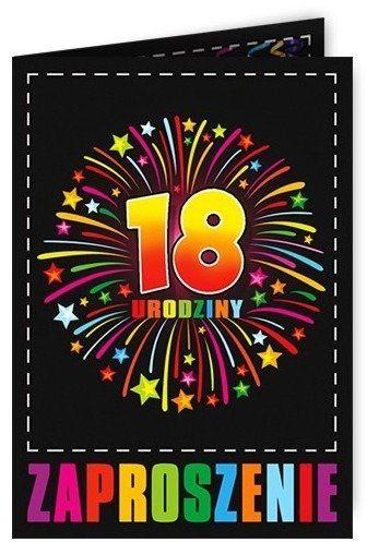 Zaproszenie na 18 urodziny z kopertą 1szt. ZX8903