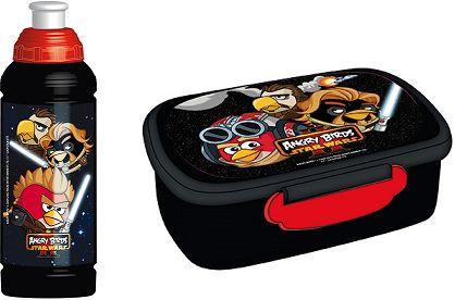 Zestaw śniadaniowy bidon + śniadaniówka Angry Birds