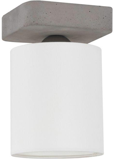 Spot Light 2321136 Gentle plafon lampa sufitowa beton szary abażur tkanina biały 1xE27 25W 21cm
