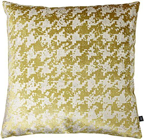 Ashley Wilde Poduszka wypełniona poliestrem Nevado, złota, 50 x 50 cm