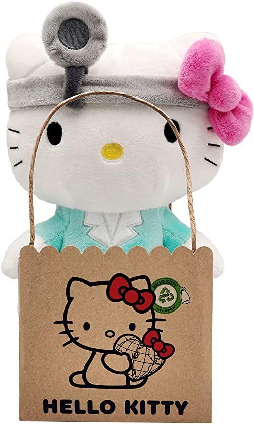 Joy Toy 20613 Hello Kitty Doctor Eco Plush 24 cm, wielokolorowy