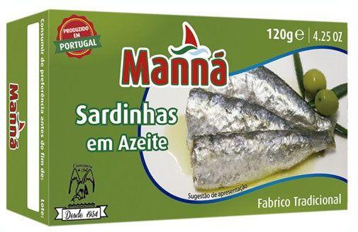 Sardynki portugalskie z oliwą z oliwek 120g Manná