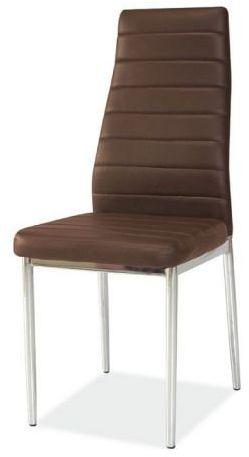 Krzesło H-261 brązowe/chrom  Kupuj w Sprawdzonych sklepach