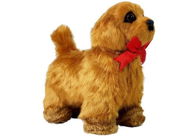 Interaktywny Pies Zdalnie Sterowany Porusza się Szczeka Brązowy