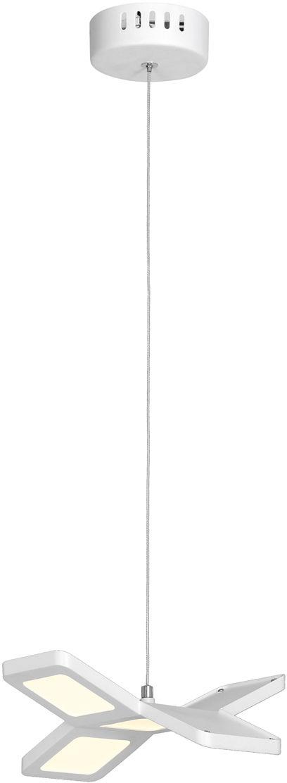 Milagro PIXELS ML194 lampa wisząca biały metal akryl regulacja wysokości obudowa w kształcie wiatraka 25W LED 4000K 23cm