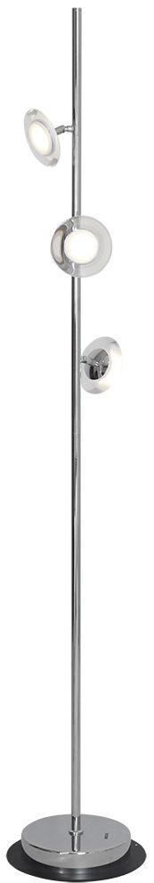 Milagro ELLIPSE ML177 lampa podłogowa chrom metal akryl 15W LED 4000K 155cm