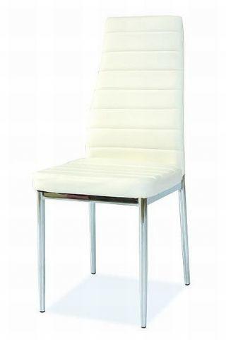 Krzesło H-261 białe/chrom do salonu lub jadalni  KUP TERAZ - OTRZYMAJ RABAT