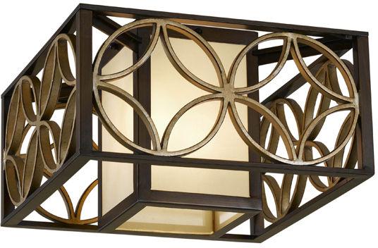 Plafon Remy FE/REMY/F Feiss kwadratowa oprawa w dekoracyjnym stylu