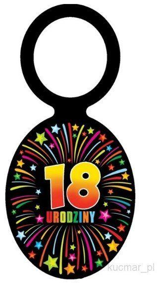 Zawieszki na butelki 18 urodziny 20szt el104